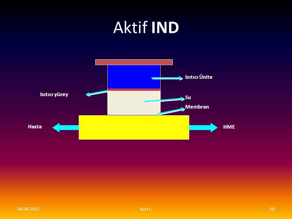 Aktif IND Isıtıcı Ünite Isıtıcı yüzey Su Membran Hasta HME 09.04.2017