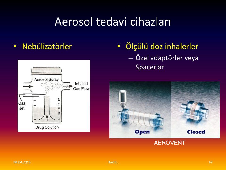 Aerosol tedavi cihazları