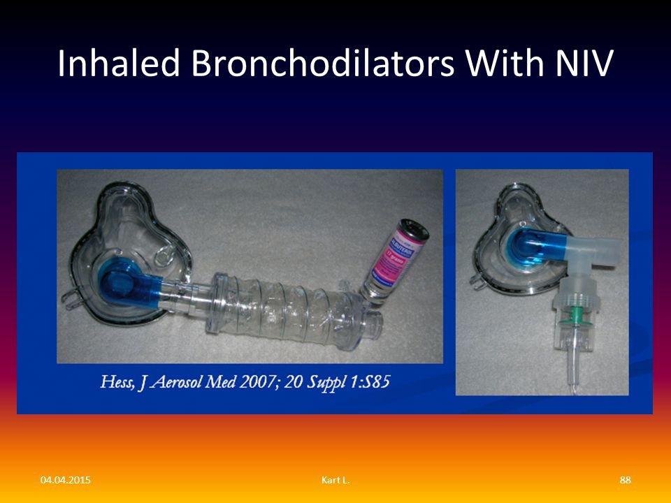 Inhaled Bronchodilators With NIV