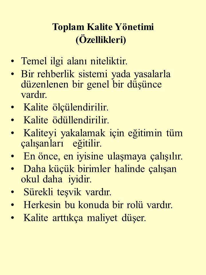 Toplam Kalite Yönetimi (Özellikleri)