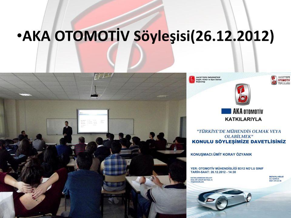 AKA OTOMOTİV Söyleşisi(26.12.2012)