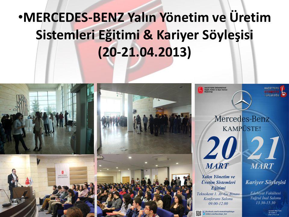 MERCEDES-BENZ Yalın Yönetim ve Üretim Sistemleri Eğitimi & Kariyer Söyleşisi