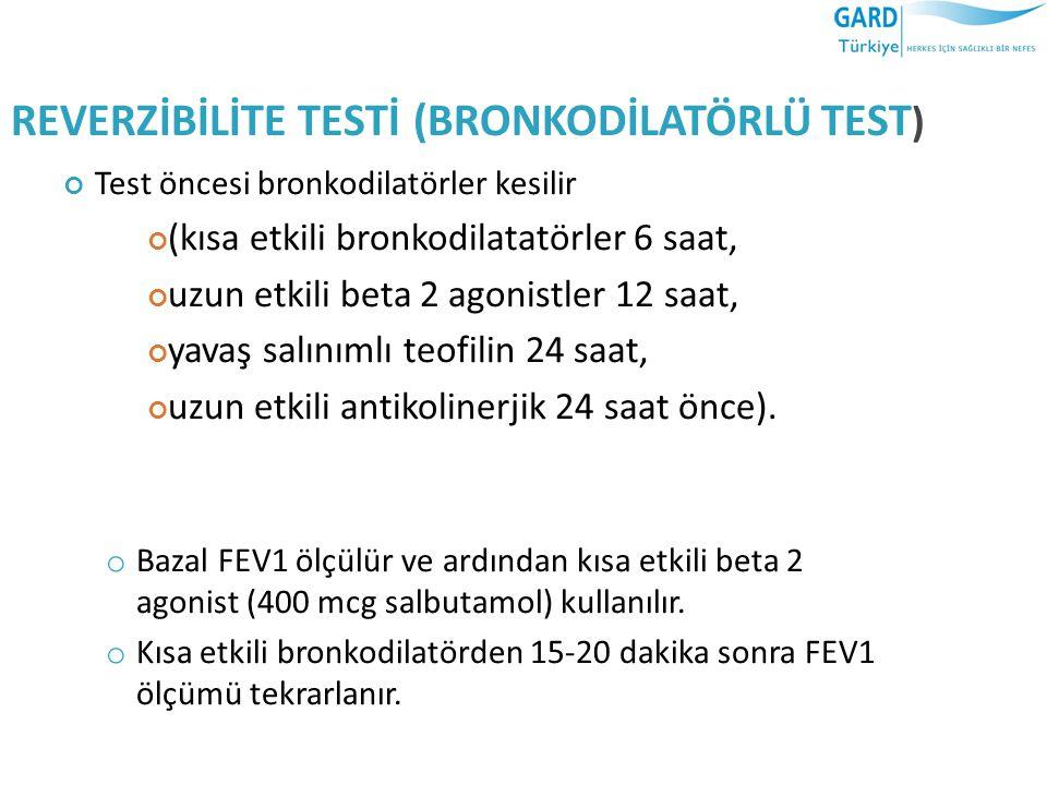 REVERZİBİLİTE TESTİ (BRONKODİLATÖRLÜ TEST)