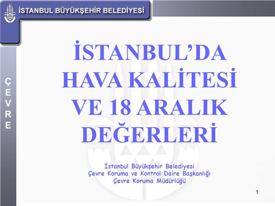 İSTANBUL'DA HAVA KALİTESİ VE 18 ARALIK DEĞERLERİ
