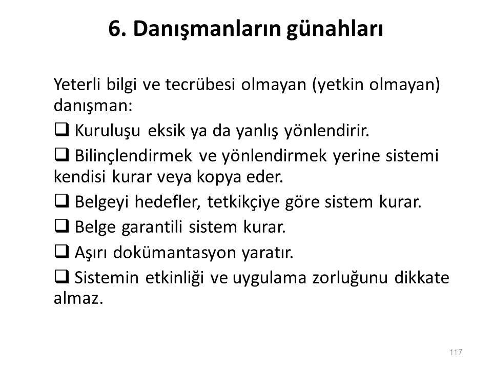 6. Danışmanların günahları