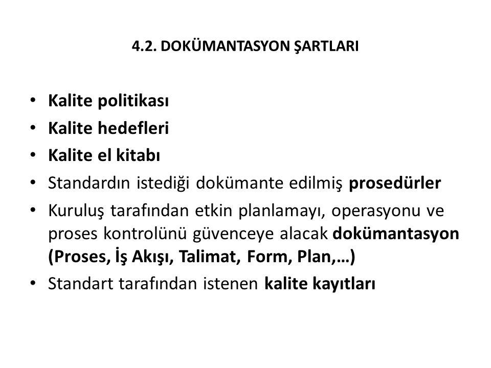4.2. DOKÜMANTASYON ŞARTLARI