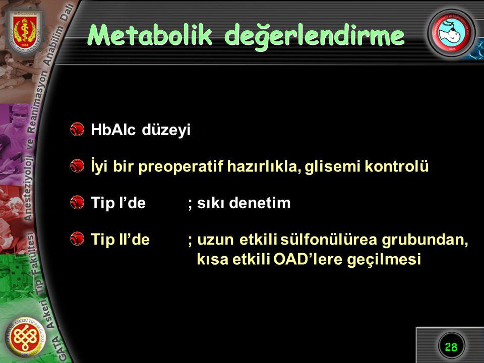 Metabolik değerlendirme