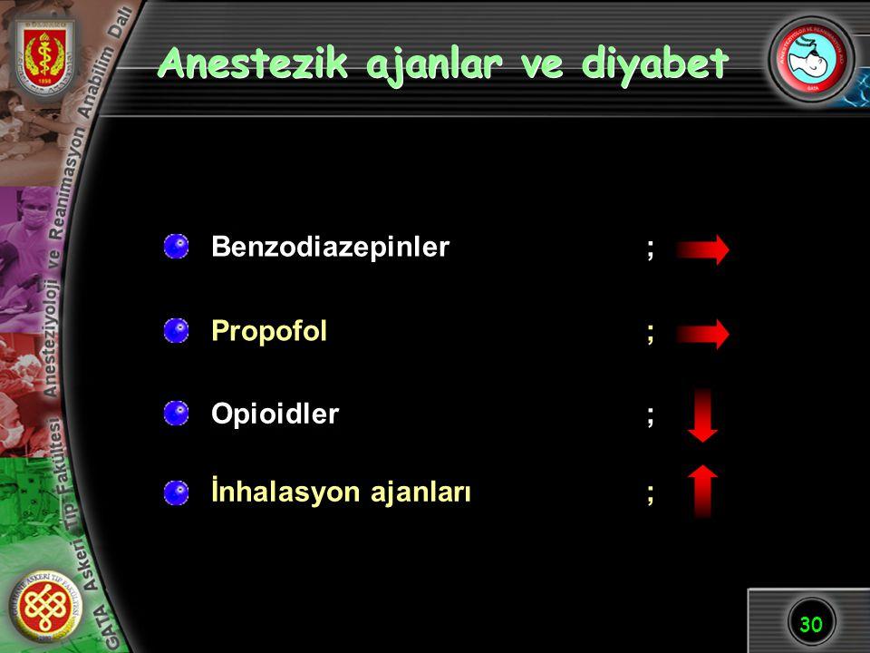 Anestezik ajanlar ve diyabet