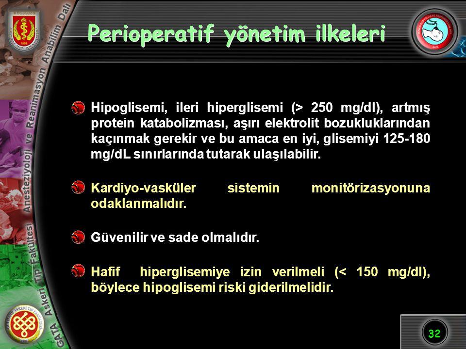 Perioperatif yönetim ilkeleri