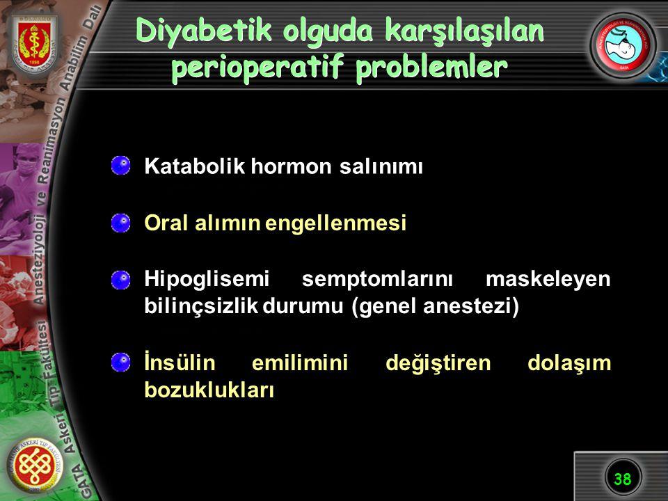 Diyabetik olguda karşılaşılan perioperatif problemler