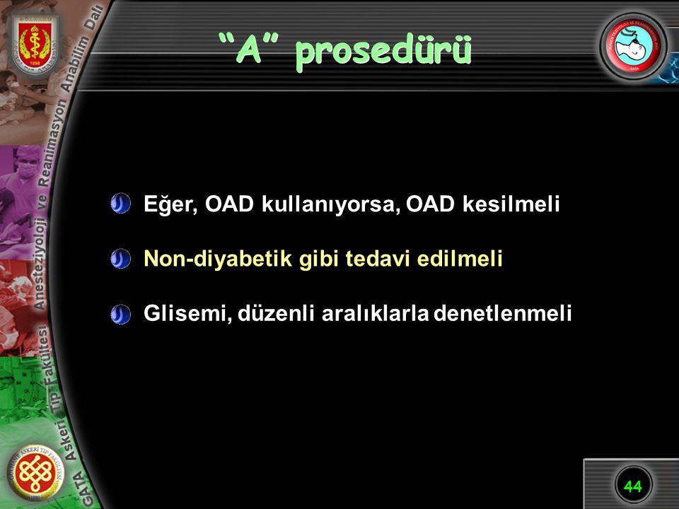 A prosedürü Eğer, OAD kullanıyorsa, OAD kesilmeli