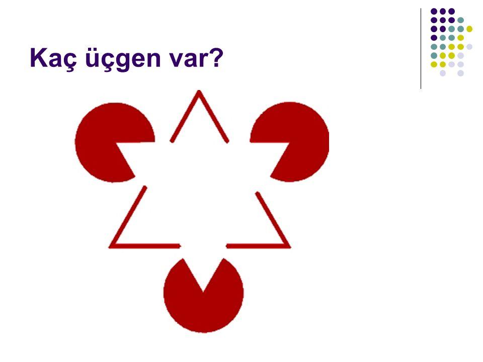 Kaç üçgen var