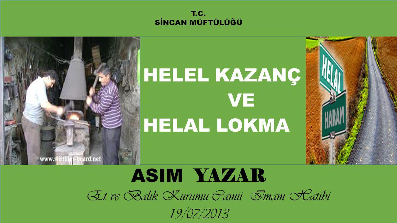 Et ve Balık Kurumu Camii Imam Hatibi 19/07/2013
