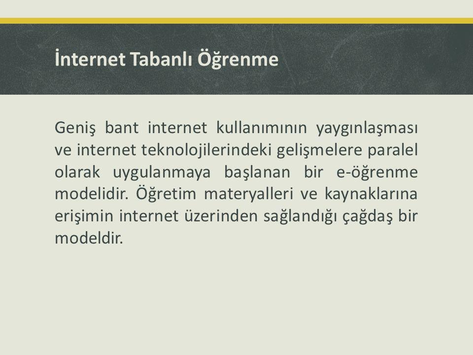 İnternet Tabanlı Öğrenme