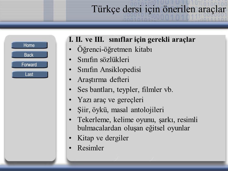 Türkçe dersi için önerilen araçlar