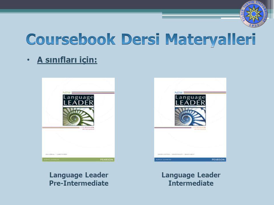 Coursebook Dersi Materyalleri