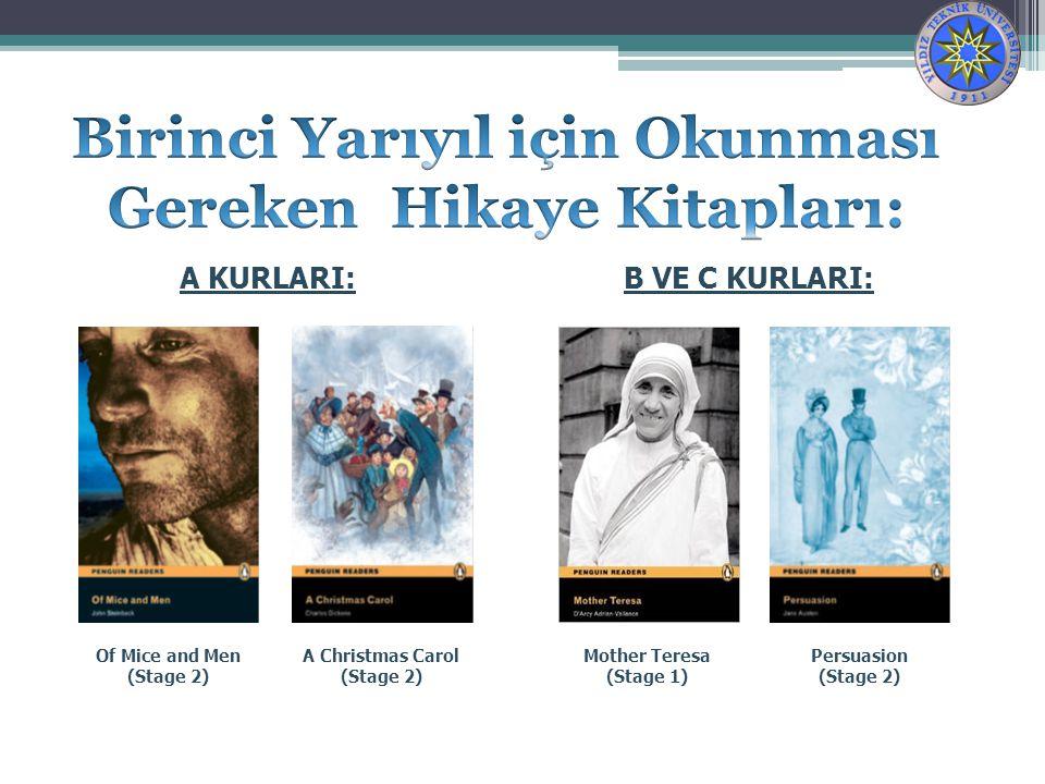 Birinci Yarıyıl için Okunması Gereken Hikaye Kitapları: