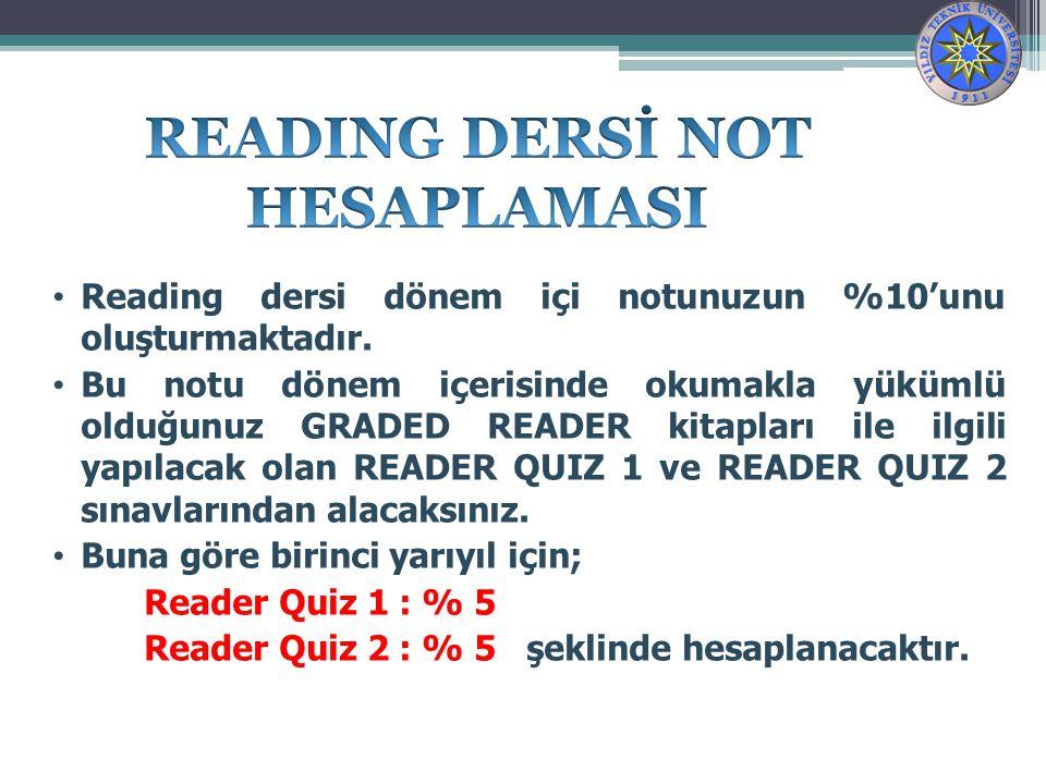 READING DERSİ NOT HESAPLAMASI