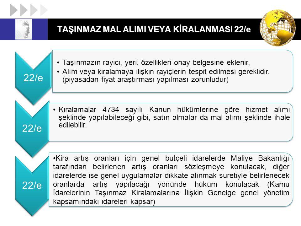 TAŞINMAZ MAL ALIMI VEYA KİRALANMASI 22/e