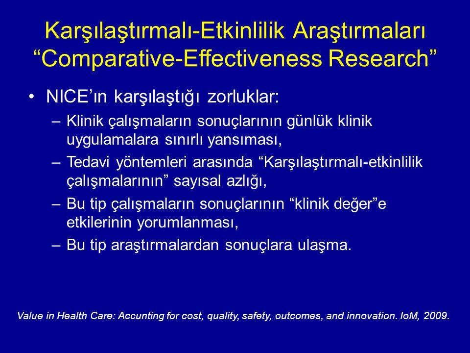 Karşılaştırmalı-Etkinlilik Araştırmaları Comparative-Effectiveness Research
