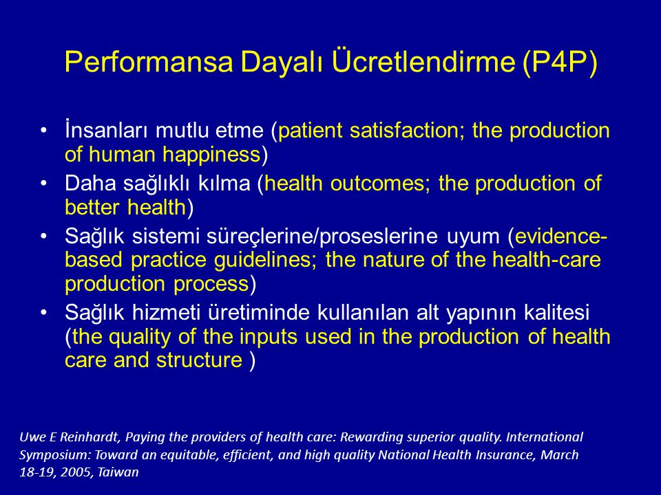 Performansa Dayalı Ücretlendirme (P4P)