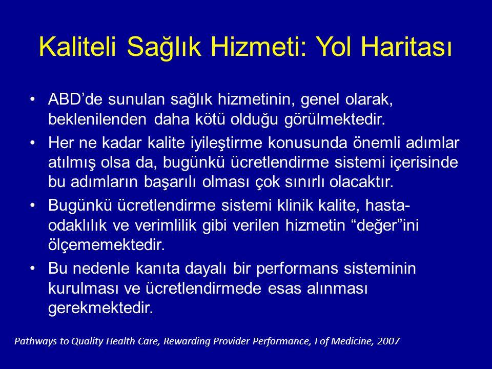Kaliteli Sağlık Hizmeti: Yol Haritası