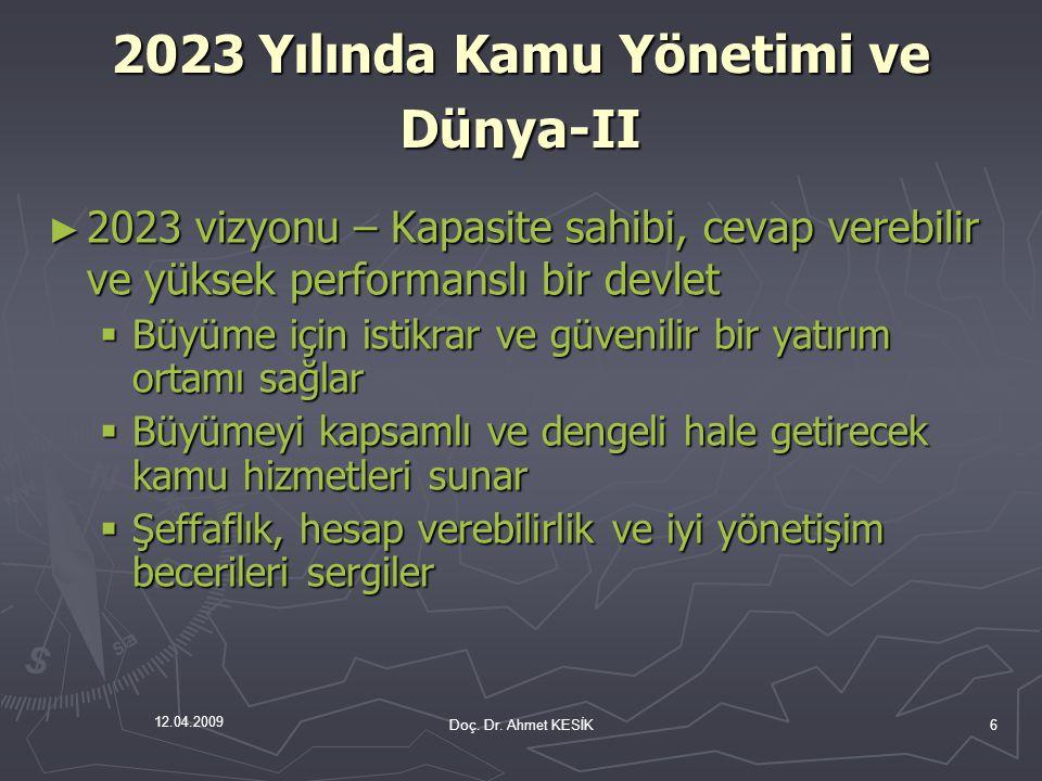 2023 Yılında Kamu Yönetimi ve Dünya-II