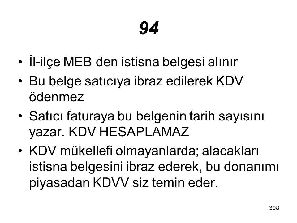 94 İl-ilçe MEB den istisna belgesi alınır