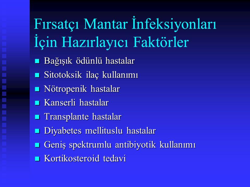 Fırsatçı Mantar İnfeksiyonları İçin Hazırlayıcı Faktörler
