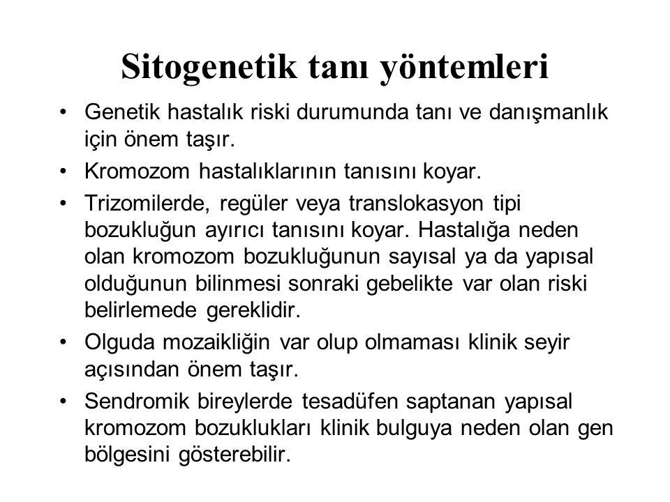Sitogenetik tanı yöntemleri