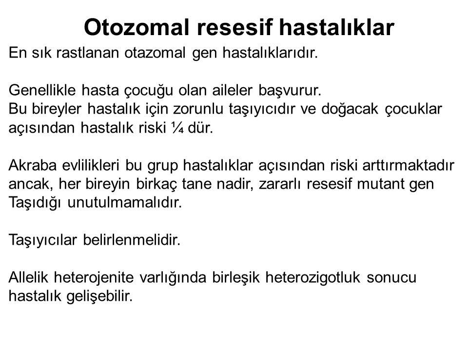 Otozomal resesif hastalıklar