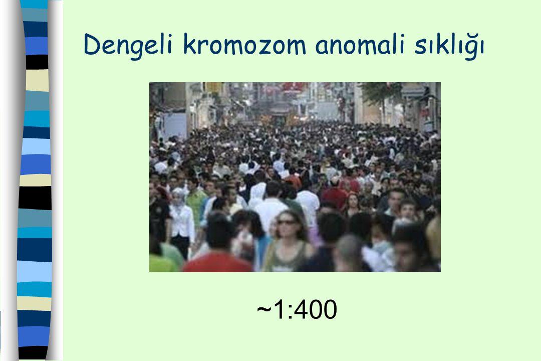 Dengeli kromozom anomali sıklığı