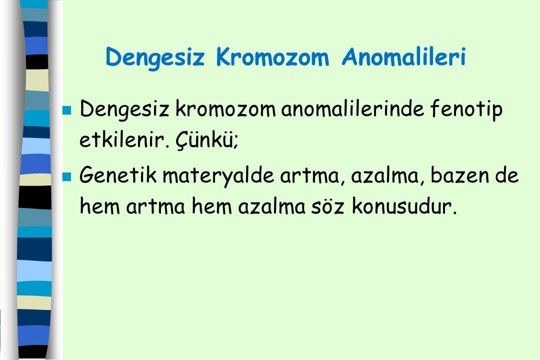 Dengesiz Kromozom Anomalileri