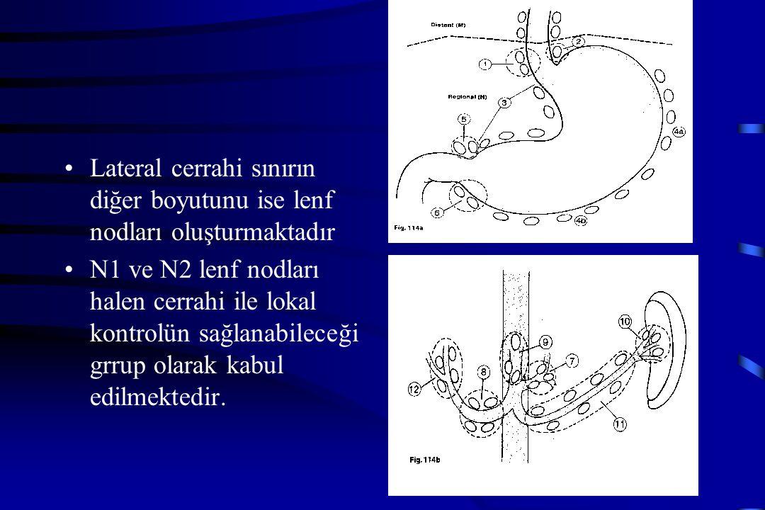 Lateral cerrahi sınırın diğer boyutunu ise lenf nodları oluşturmaktadır