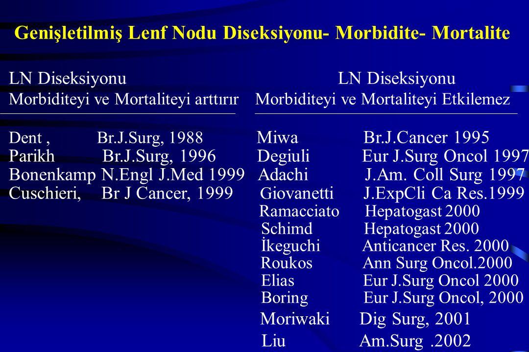 Genişletilmiş Lenf Nodu Diseksiyonu- Morbidite- Mortalite