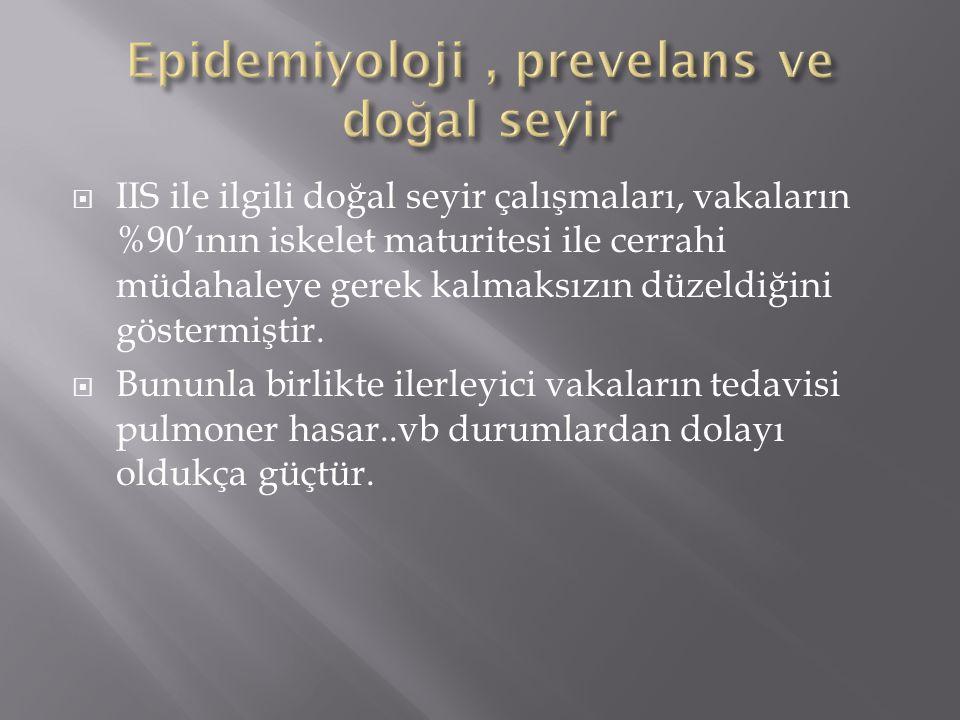 Epidemiyoloji , prevelans ve doğal seyir