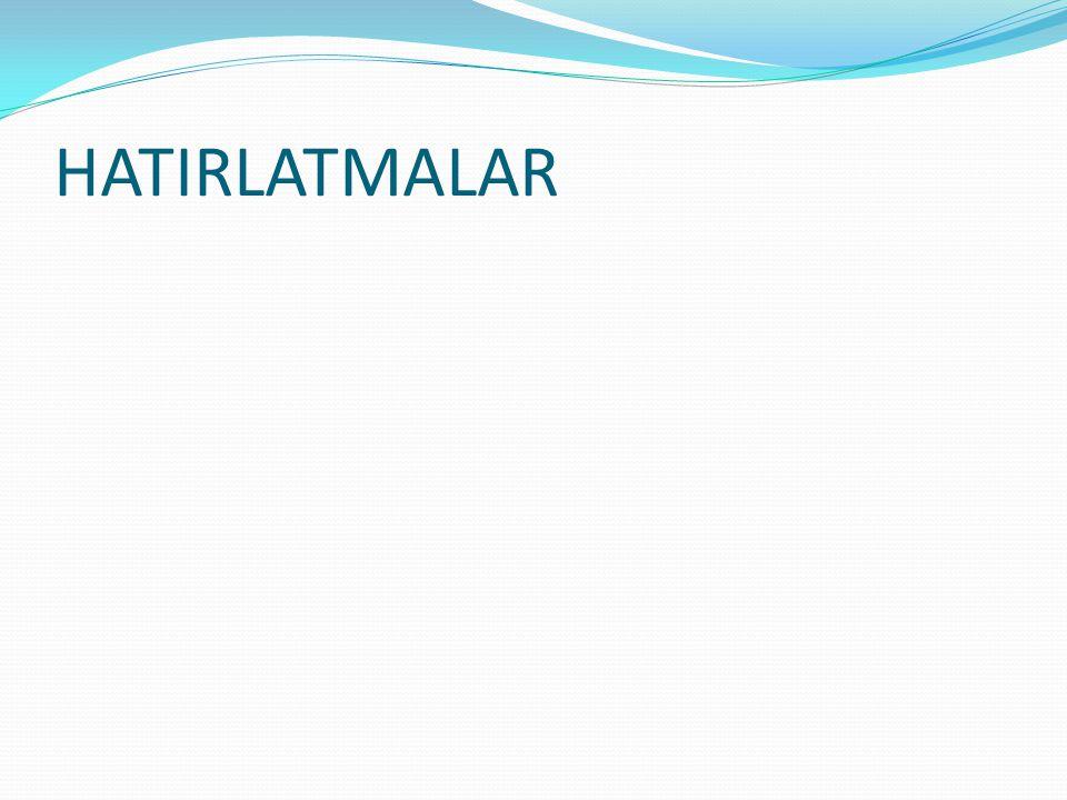 HATIRLATMALAR