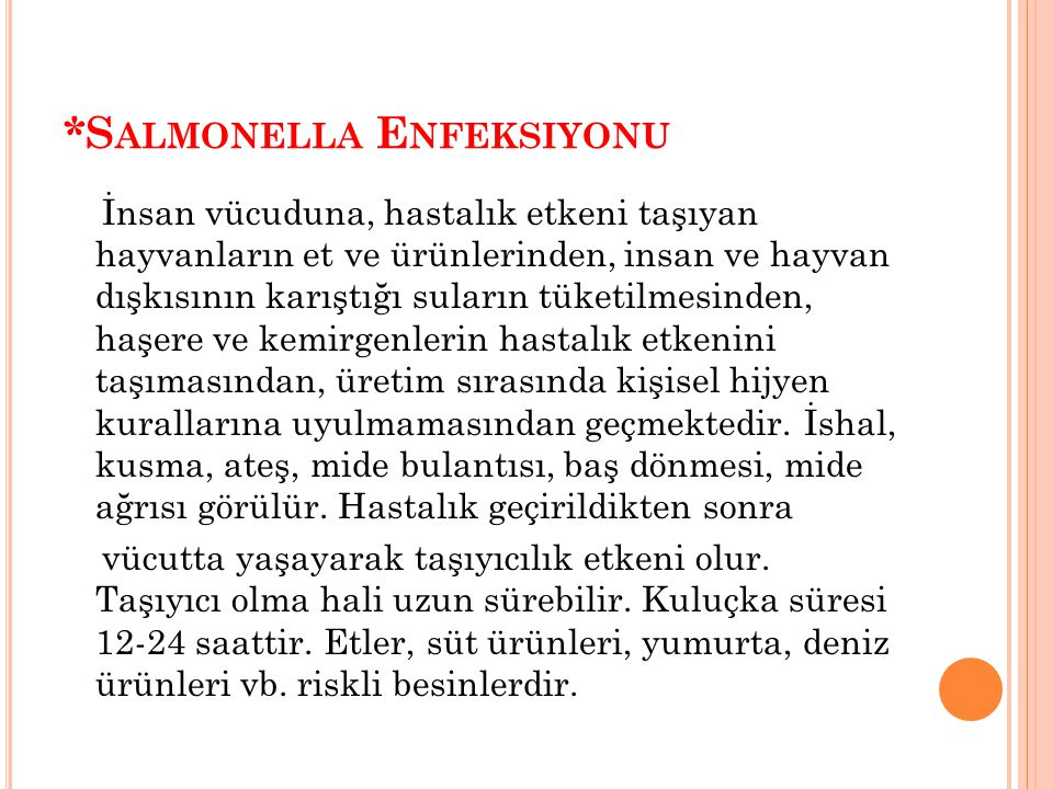 *Salmonella Enfeksiyonu