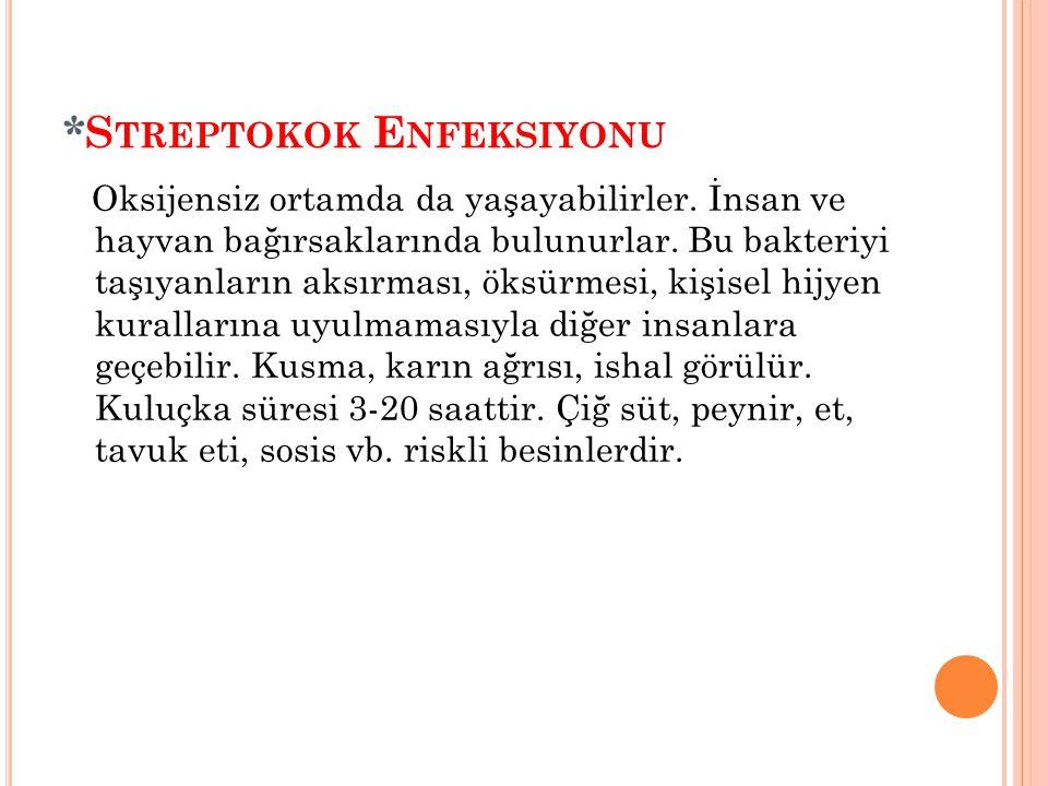 *Streptokok Enfeksiyonu