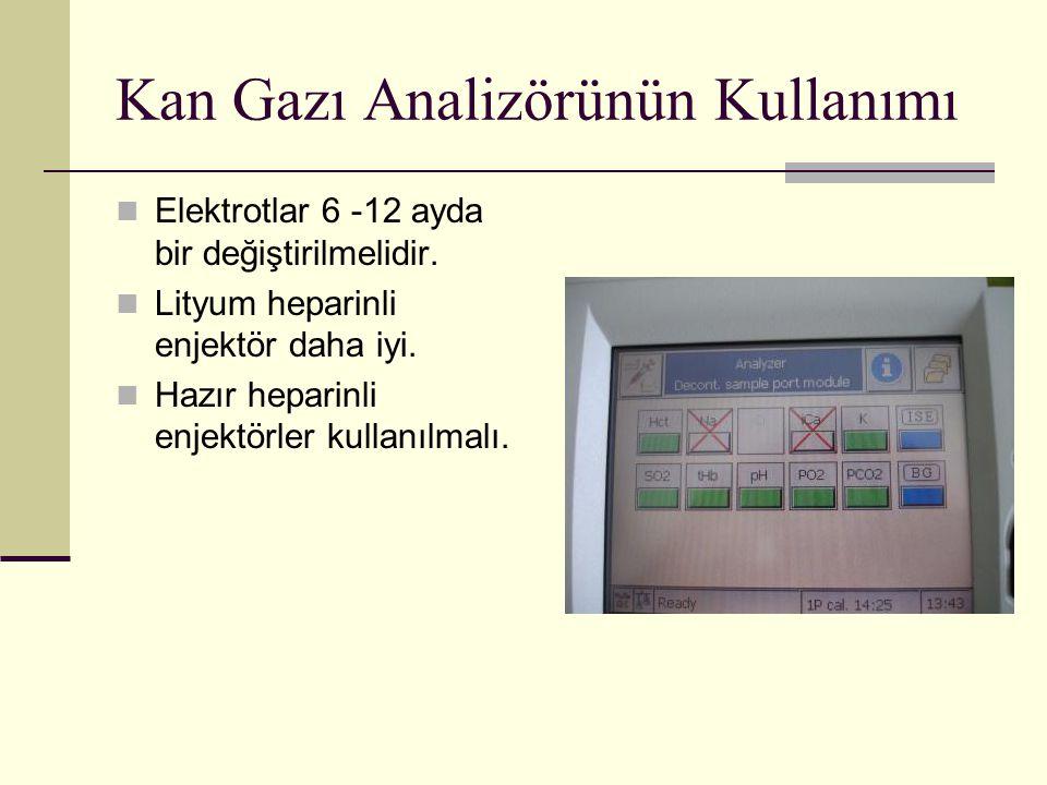 Kan Gazı Analizörünün Kullanımı