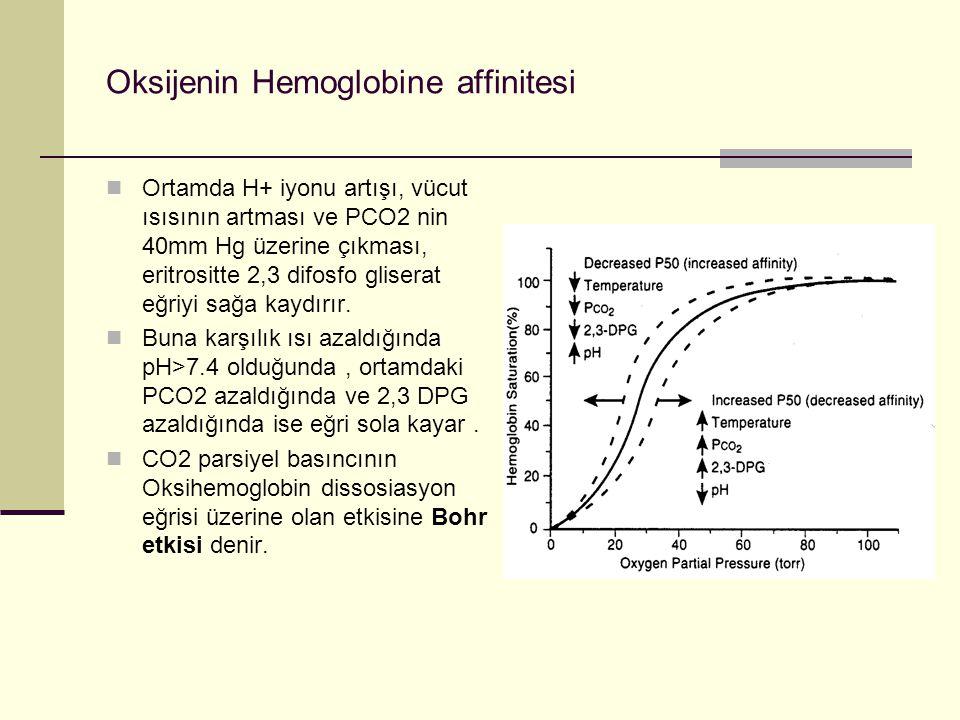 Oksijenin Hemoglobine affinitesi