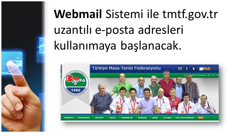 Webmail Sistemi ile tmtf. gov