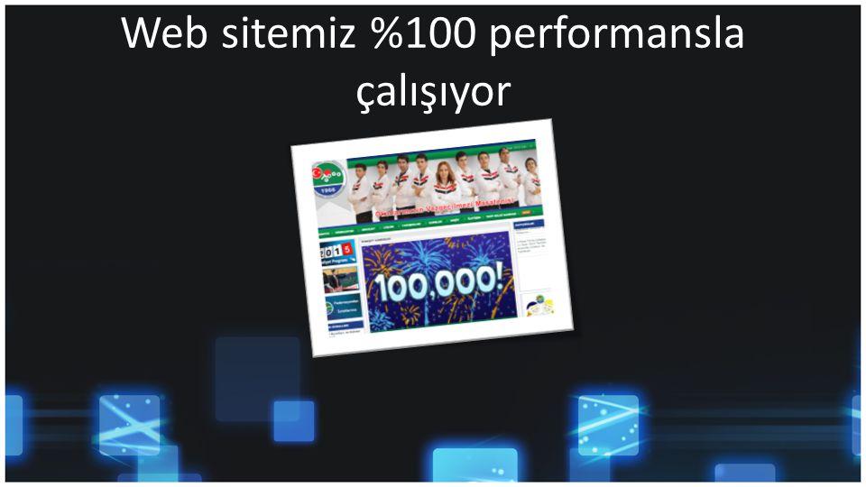 Web sitemiz %100 performansla çalışıyor