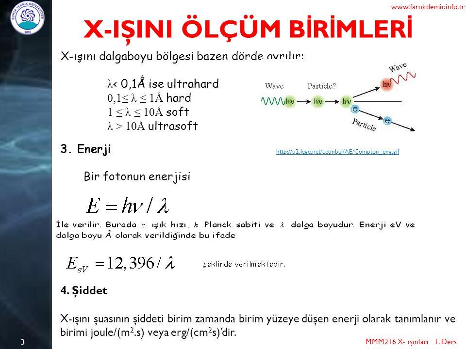 X-IŞINI ÖLÇÜM BİRİMLERİ