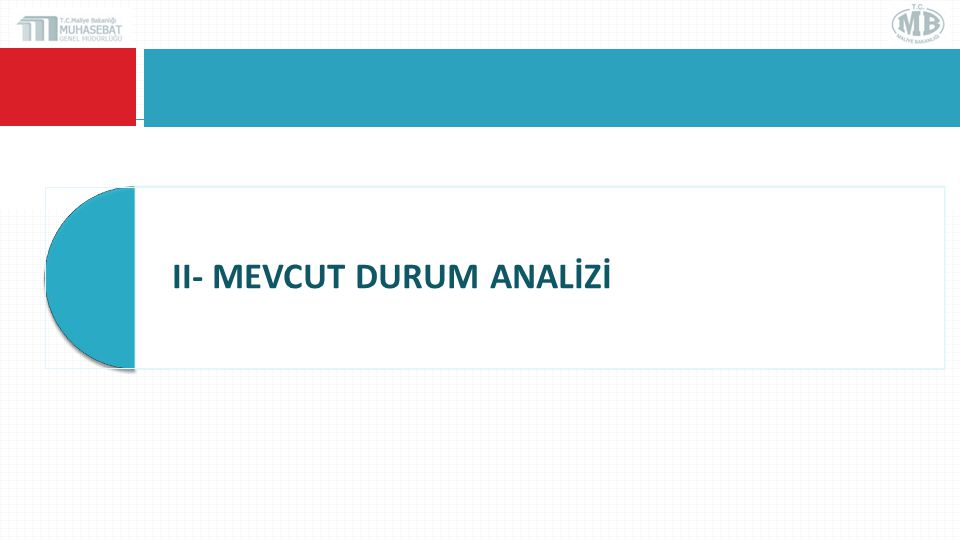 II- MEVCUT DURUM ANALİZİ