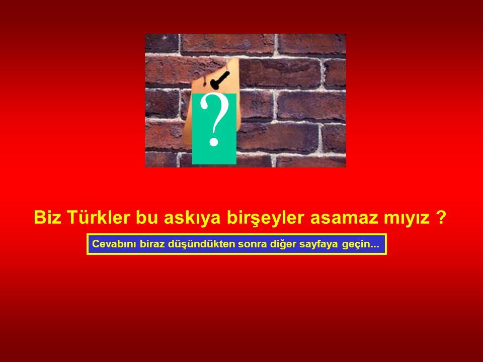 Biz Türkler bu askıya birşeyler asamaz mıyız