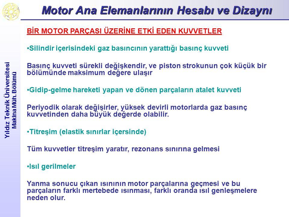 Motor Ana Elemanlarının Hesabı ve Dizaynı