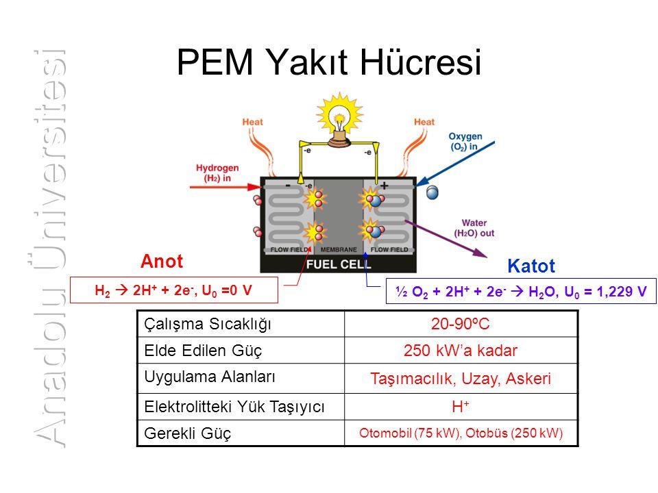 Anadolu Üniversitesi PEM Yakıt Hücresi Anot Katot 20-90ºC