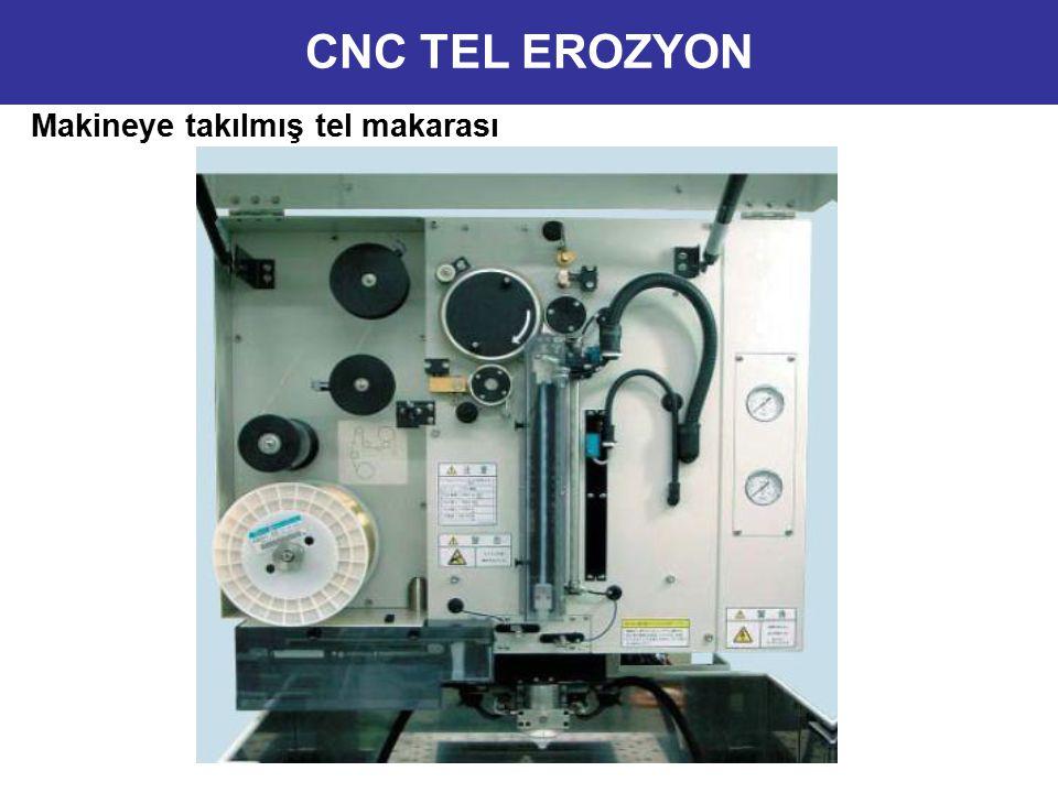 CNC TEL EROZYON Makineye takılmış tel makarası 8