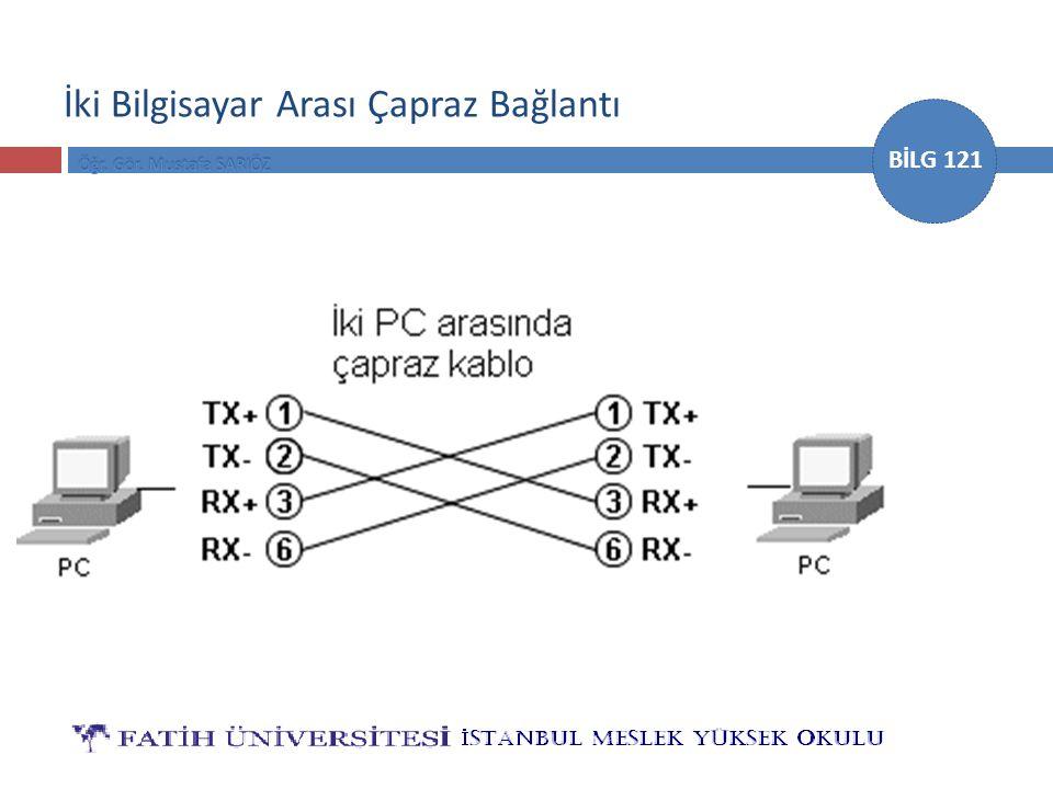 İki Bilgisayar Arası Çapraz Bağlantı